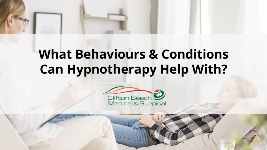 What behaviours and Conditions can Hypnotherapy help with?